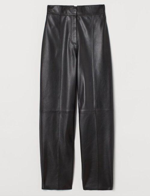 Byxor i äkta skinn från H&M.