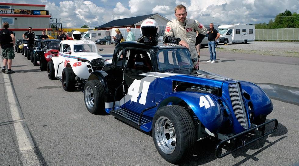 Linus Pröjtz vann Legends Cup på Karlskoga Motorstadion