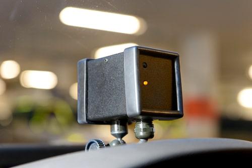 Kameran är något större än en vanlig GoPro-kamera och upplösningen är mycket god även i dåligt väder.