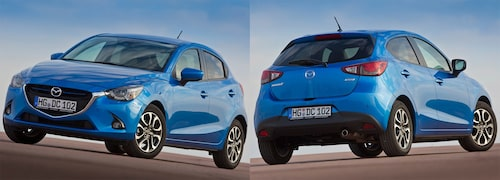 Så här ser Mazdas variant av bilen ut.