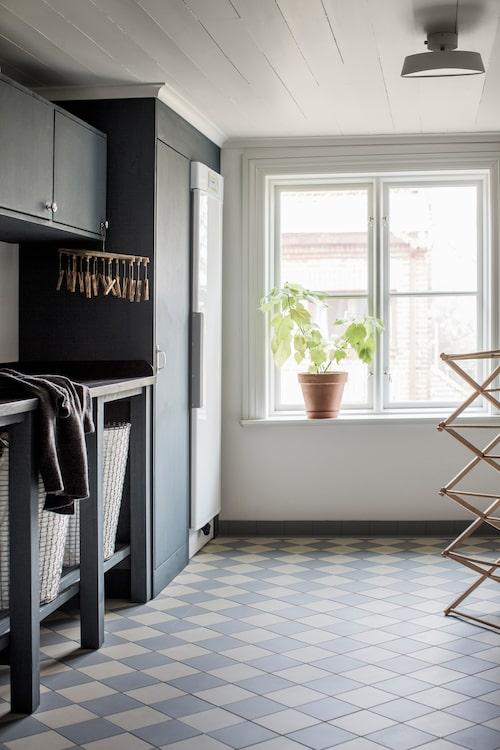 Tvättstuga med golvklinker från Byggfabriken,