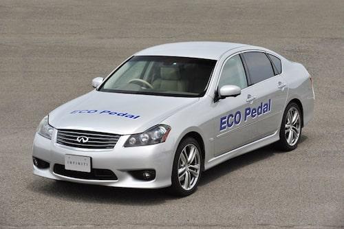 Bilen som Nissan just nu testar systemet i, en Infiniti.