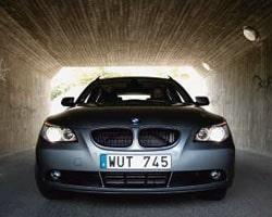 Provkörning av BMW 525xi