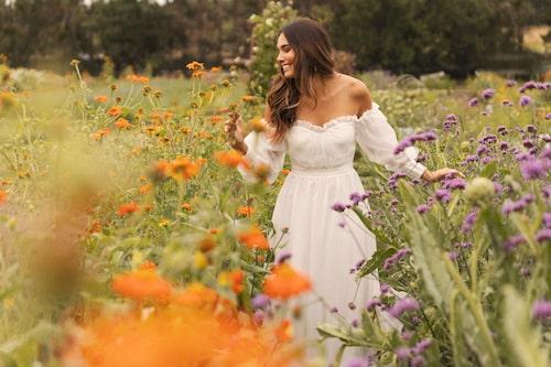 Brudklänning från By Malina SS21.