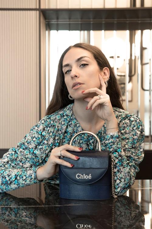 """ERIKA BOLDRIN:  """"Klänning från Rotate och väska från Chloé."""""""