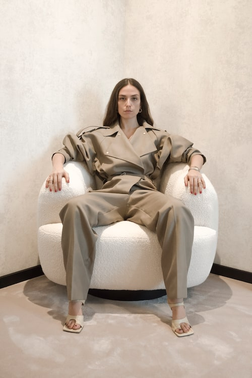"""ERIKA BOLDRIN: """"Jumpsuit och skor från Bottega Veneta."""""""