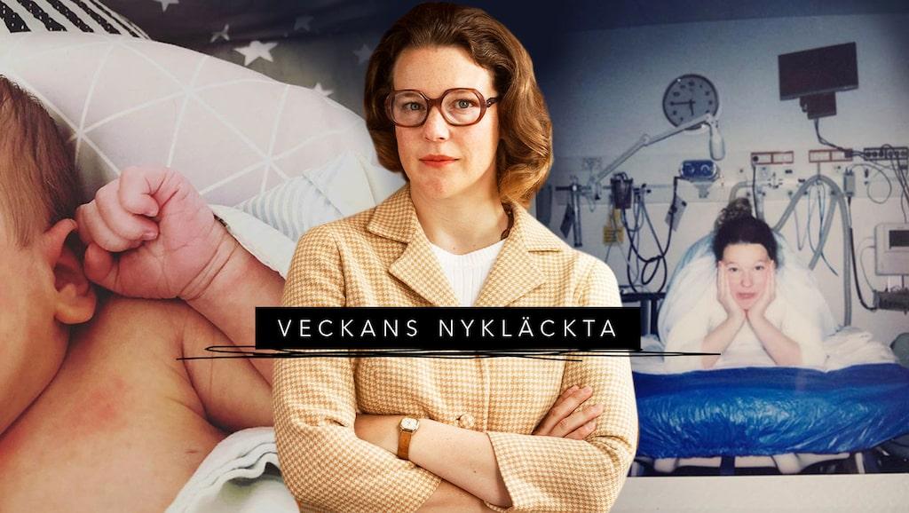 """Nyblivna tvåbarnsmamman Josefin Neldén blev känd som Maggan i serien """"Vår tid är nu""""."""