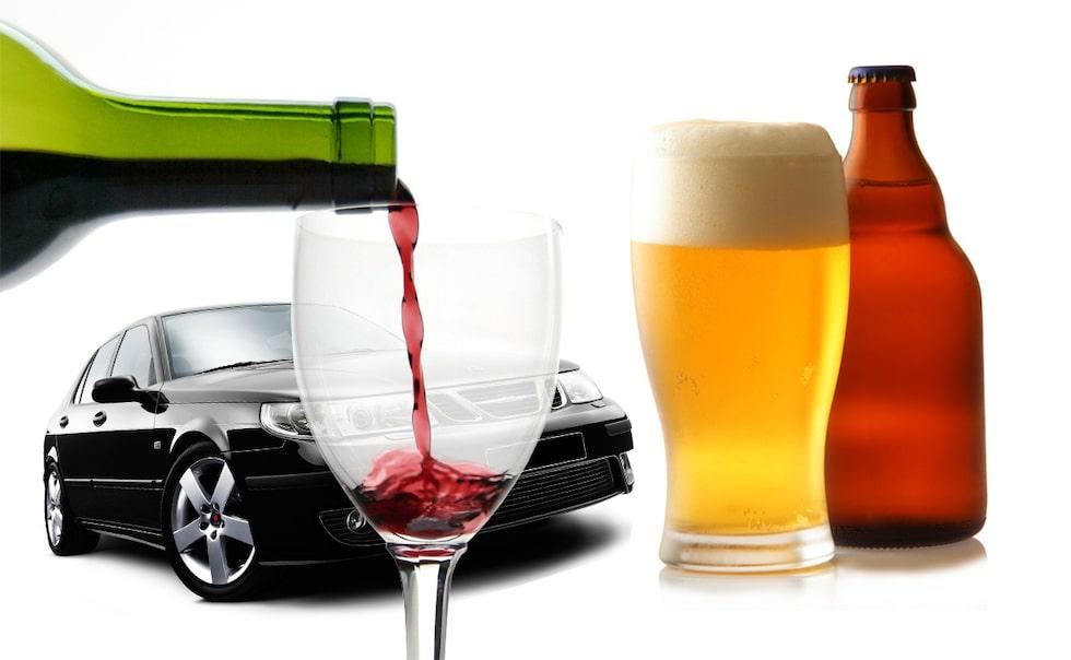 Öl, vin, alkohol och bilkörning