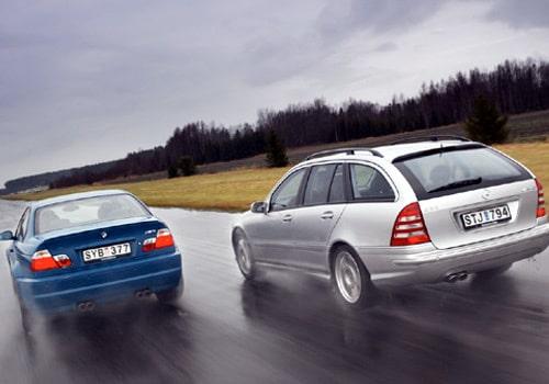 BMW M3 SMG och Mercedes C32 AMG