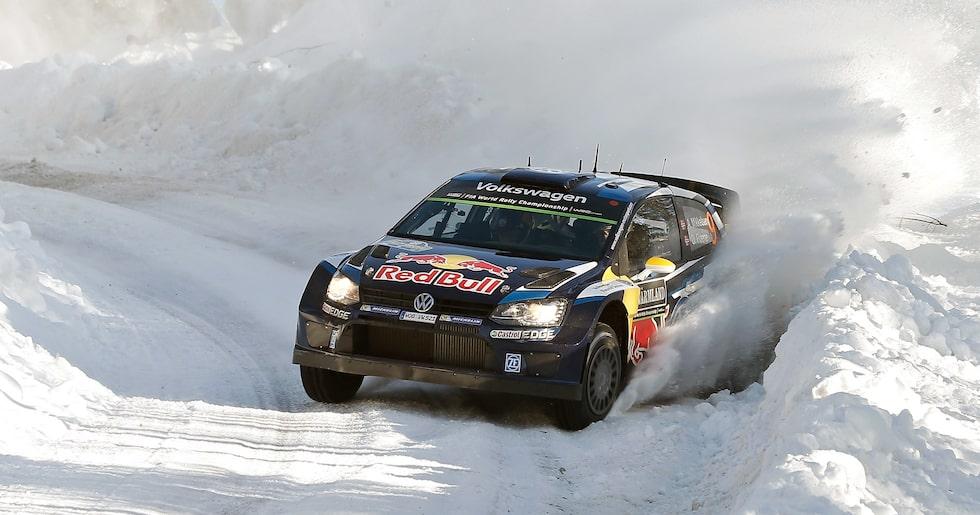 Så här såg det ut i Rally Sweden 2015. Snön lyser med sin frånvaro i år.