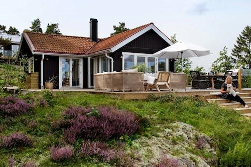 Vackra Vindö bjöd på det här magiska huset.