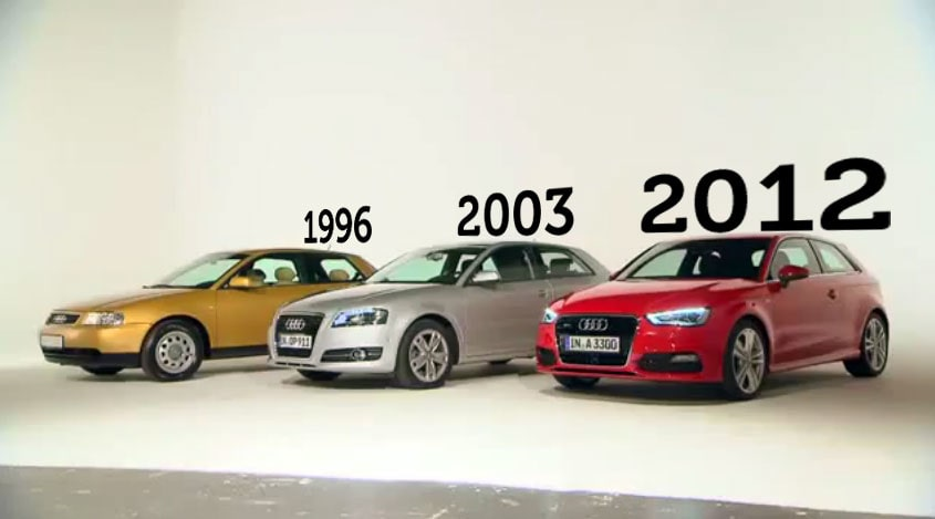 Audi A3 1996, 2003, 2012
