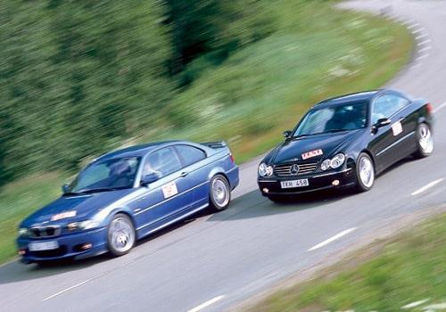 BMW 330 Ci och Mercedes CLK 320