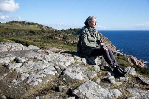 Lika vackert i storm och dimma som i sol, intygar Åsa om Kullabergshalvön. Ett paradis för den som vill spana efter tumlare och pilgrimsfalk, dyka eller bergsklättra. Men det gäller att se upp för stupen!