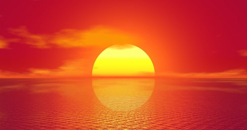 Soluppgångens land är Japan (bilden visar dock en solnedgång). I Kina finns numera ett bilmärke som heter Sol.