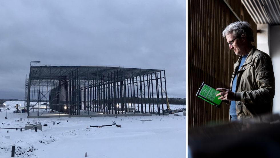 Northvolt bygger just nu den nya batterifabriken i Skellefteå som blir en av norra Europas största byggnader.