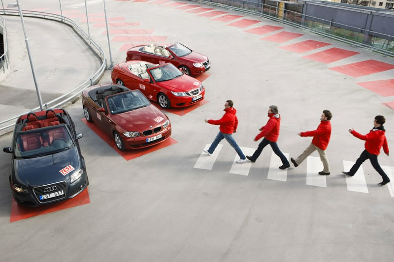 Fyra cabbar på rad – Audi, BMW, Saab och Volkswagen