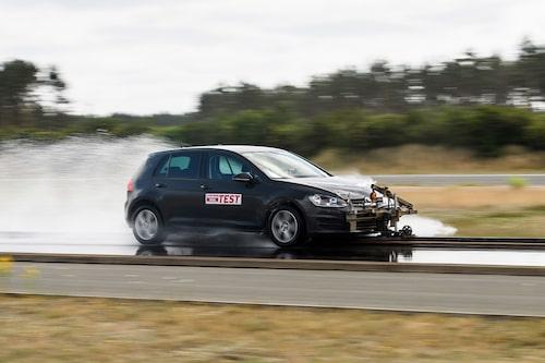 Observera att bilden är tagen vid ett annat tillfälle än vid detta test, därför stämmer inte bilen på bilden överens med den som körs i testet.