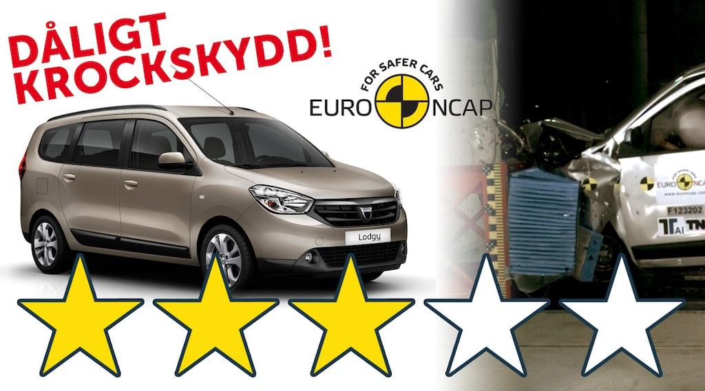 Dacia Lodgy sämst i krocktest (Euro NCAP)