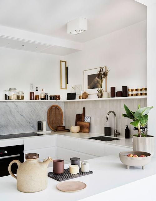 Låt dina mest använda föremål i köket få ta plats.