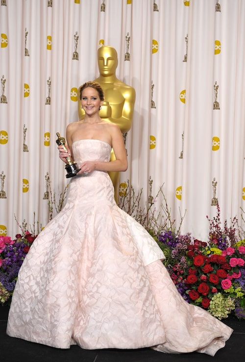 Jennifer Lawrence i Dior, 2013.