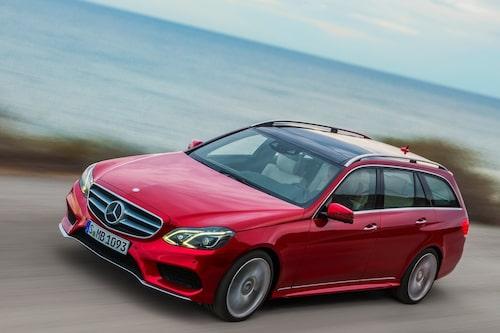 532 kronor per liter lastutrymme: Mercedes E-klass Kombi. Pris från 369 900kronor. Bagageutrymme: 695 liter. Euro NCAP krocktestbetyg: 5 av 5.