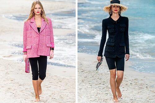 Två längder och stylingsätt från Chanels catwalk.