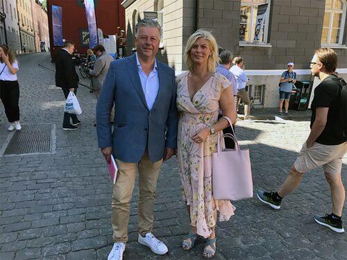 Jan-Erik Berggren träffade under Almedalsveckan Kjell Jansson och Sofia Westergren från riksdagens bilnätverk.