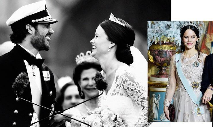 Sötaste bröllopsbilden på prinsparet.