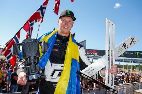Fem av sex möjliga vinster hittills i år. Johan Kristoffersson kan mycket väl vara på väg mot sitt andra raka VM-guld.