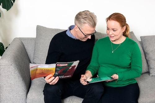Sebastian och Kristine lever tillsammans – men delar inte samma politiska åsikter.