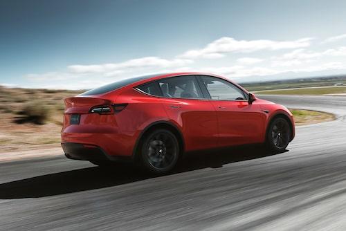Även bakljusen är desamma som på Model 3. 1 900 liter sägs Model Y rymma som mest, en bra siffra.