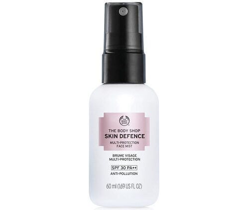 Recension av Skin defence multi-protection face mist Spf 30 pa++, 60 ml, The body shop.