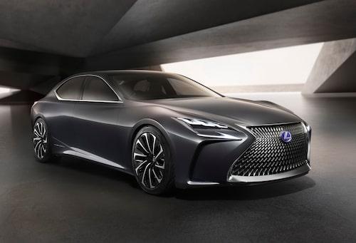 Konceptbilen Lexus LF-FC från förra hösten bjöd förmodligen på en hel del detaljer som vi får se på kommande LS.