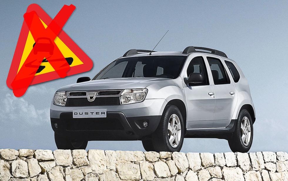 Dacia Duster nu med antisladd!