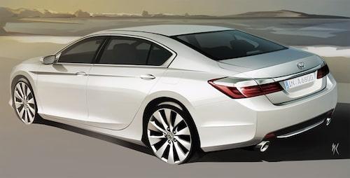 Nya Honda Accord i Ryssland. Kanske den ser ut så även i övriga Europa?