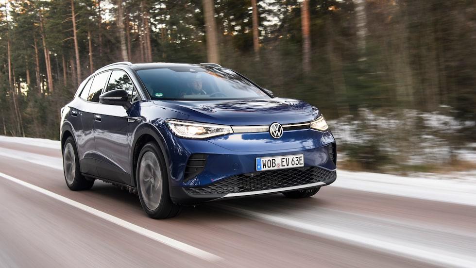 ID.4 är andra modellen ut i Volkswagens stora elbilssatsning. Snart kommer kusinmodellen Skoda Enyaq.
