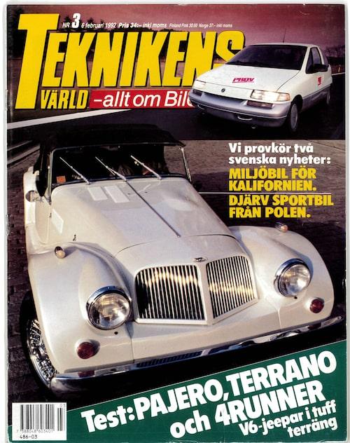 Teknikens Värld nummer 3 / 1992.