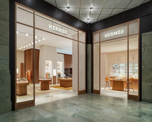 Hermès flaggskeppsbutik på Nordiska Kompaniet.