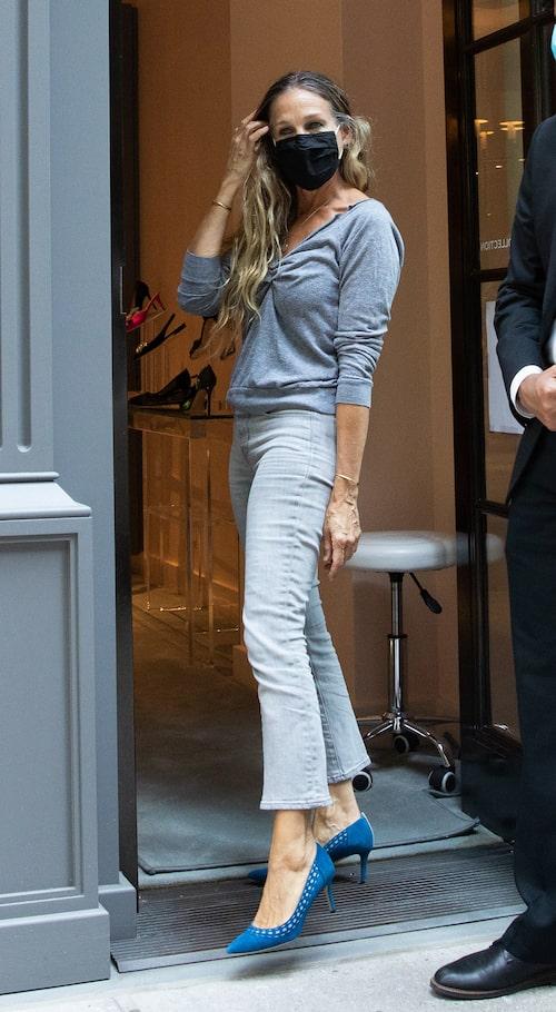 Sarah Jessica Parker i korta jeans.