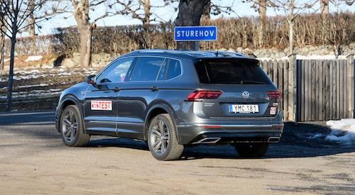 Här ser vi Volkswagen Tiguan Allspace, den sjusitsiga varianten, i test.