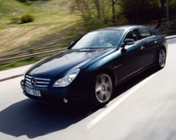 Provkörning av Mercedes-Benz CLS 55 AMG