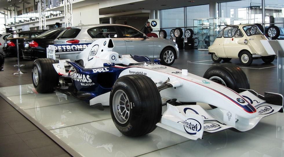 Nick Heidfelds BMW Sauber F1.06 Formel 1-bil till salu på Blocket!