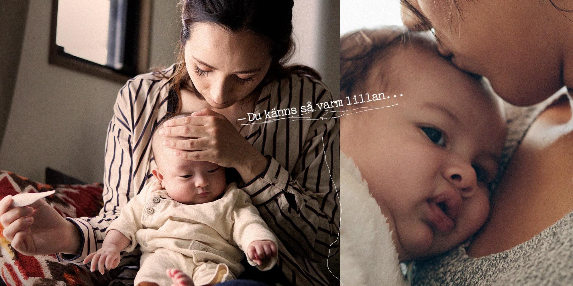 feber 4 månader baby