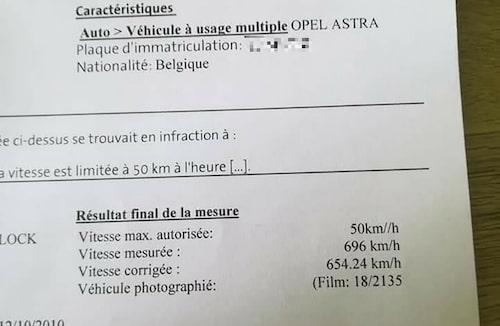 Är Opel Astra verkligen så snabb? Foto: Facebook-gruppen Perles rares de Belgique.