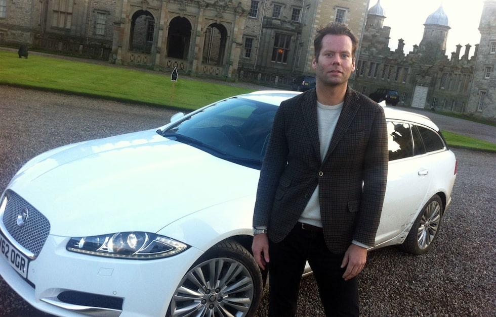 Daniel Frodin med Jaguar XF Sportbrake