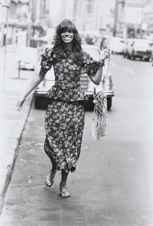 Sångerskan och bohemikonen Carly Simon fotograferad 1971