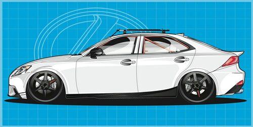 Lexus IS AWD årsmodell 2014 av Gordon Ting
