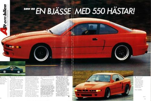 Redan i Teknikens Värld nummer 1/1991 skrev vi om BMW M8 då vi hade kommit över de första bilderna på bilen, som alltså var superhemlig på den tiden och förblev så långt in på 2000-talet.