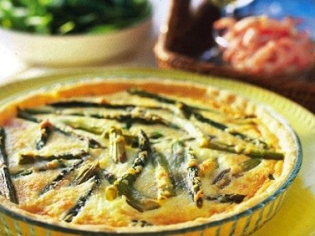 Sparrispaj med parmesan